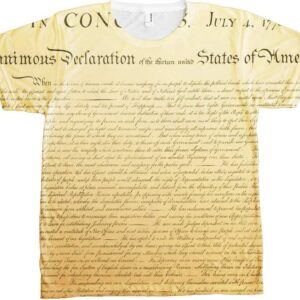Declaration of Independence T-shirt Wrap-Front