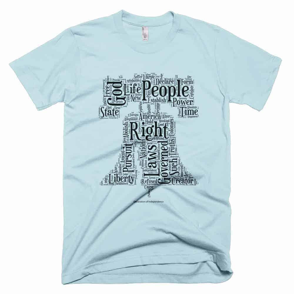Liberty Bell T-shirt - Light Blue