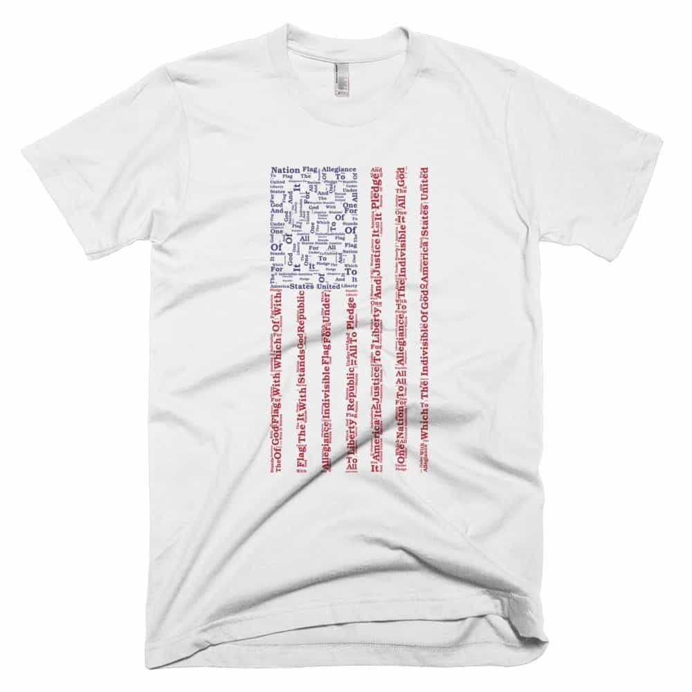 Pledge of Allegiance T-shirt - White