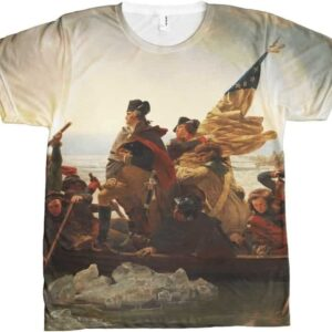 Washington Crossing Delaware All Over T-shirt