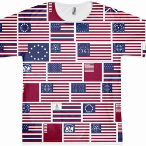 US Flags All Over T-shirt